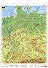 Deutschland physisch. Wandkarte mit Metallleiste