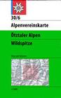 DAV Alpenvereinskarte 30/6 Ötztaler Alpen Wildspitze 1 : 25 000 Wegmarkierungen