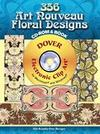 346 Art Nouveau Floral Designs CD-ROM and Book