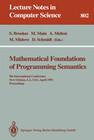 Mathematical Foundations of Programming Semantics