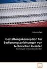 Gestaltungskonzeption für Bedienungsanleitungen von technischen Geräten