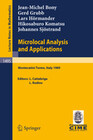 Microlocal Analysis and Applications