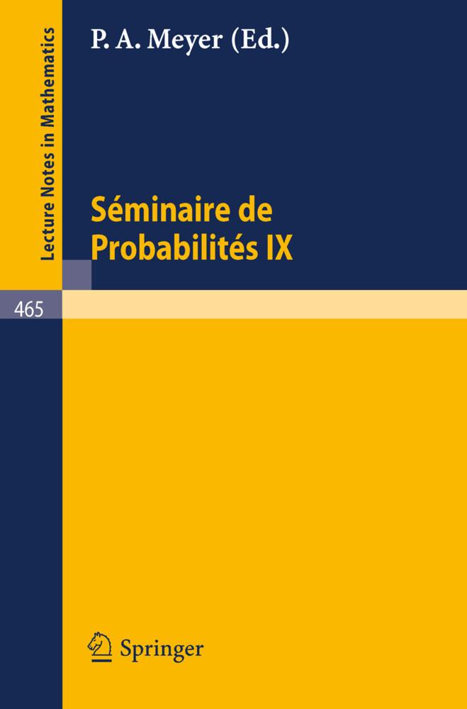 Séminaire de Probabilités IX als Buch
