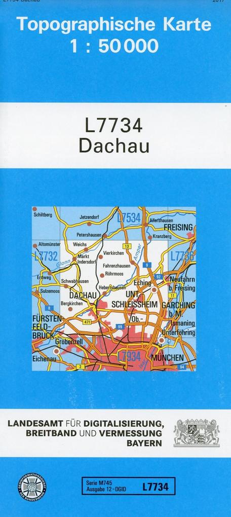 Dachau 1 : 50 000 als Buch