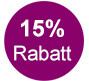 15% Rabatt