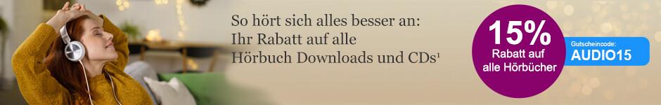 -15% auf Hörbuch Downloads und CDs