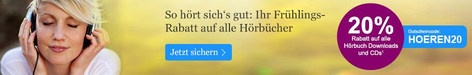 20% Frühlingsrabatt auf alle Hörbücher bei eBook.de