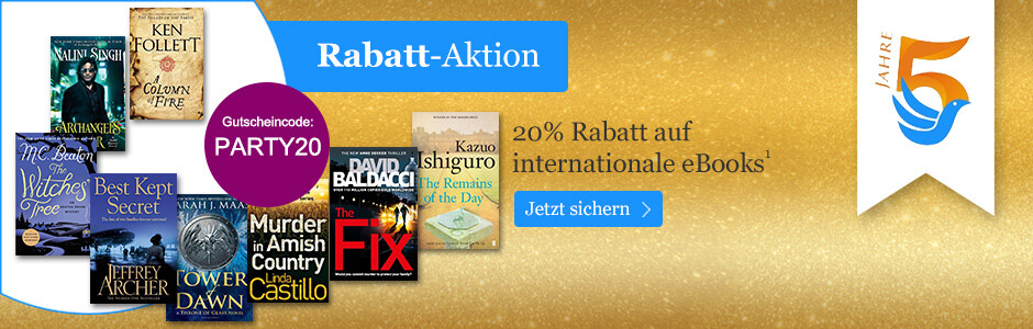 20% Rabatt auf internationale eBooks