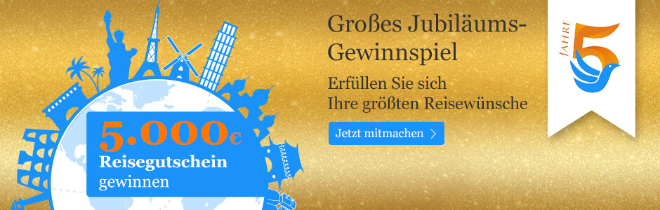 Gewinnen Sie einen 5.000 Euro-Reisegutschein