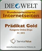 eBook.de erhält das Prädikat Gold für kundenorientierte Internetseiten 2015