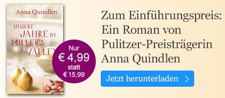 Ein Roman von Pulitzer-Preisträgerin Anna Quindlen zum Einführungspreis