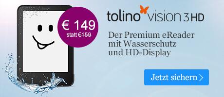 tolino vision 3 HD - jetzt nur noch 149 Euro