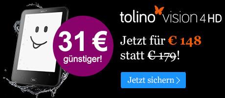 Black Friday Angebot: tolino vision 4 HD für 148 EUR