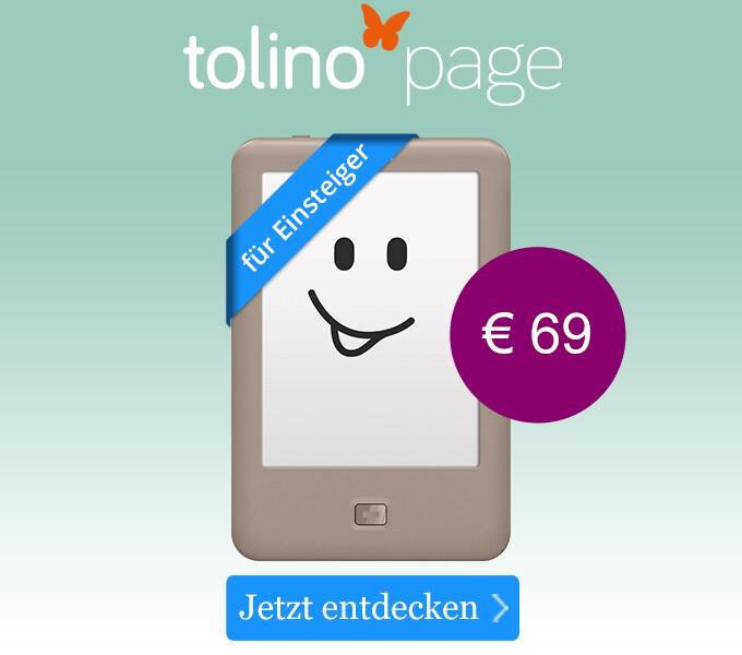 tolino page - Lesen wie gedruckt zum Einstiegspreis