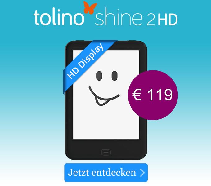 tolino shine 2 HD - Bringt Licht ins Lesen