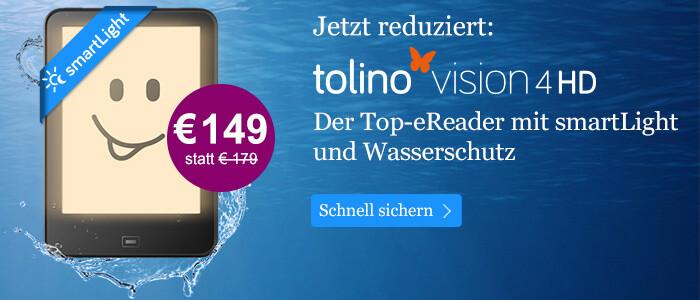 tolino vision 4 HD für 149 Euro statt 179 Euro bei eBook.de
