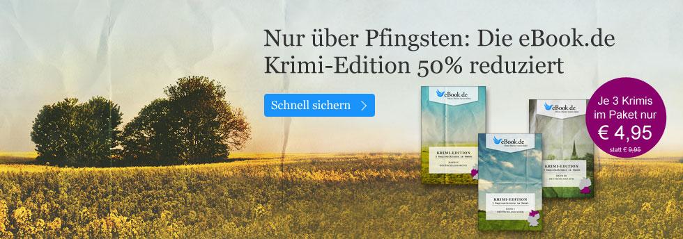 Nur über Pfingsten: Krimi-Edition Deutschland 50% reduziert bei eBook.de
