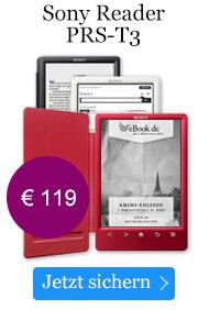 Der Sony Reader PRS-T3 mit integrierter Schutzhülle für nur 119 EUR.