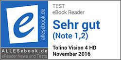 allesebook.de Award tolino-eReader vision 4 HD