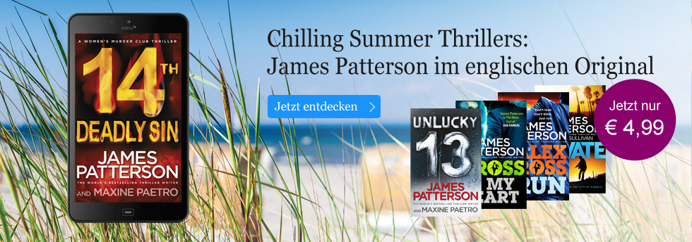 Chilling Summer Thrillers: James Patterson im Original bei eBook.de.
