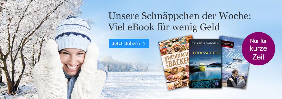 Die Schnäppchen der Woche bei eBook.de entdecken.