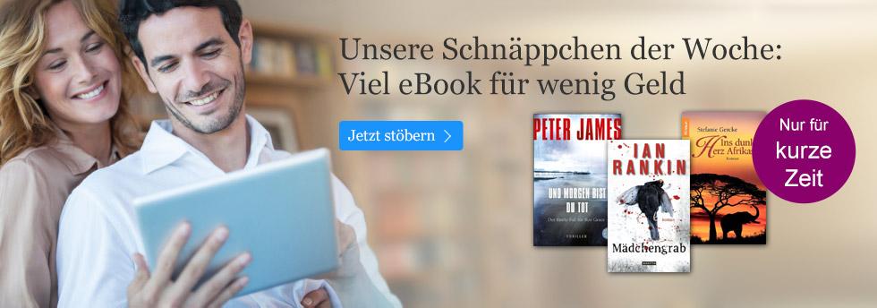 Die Schnäppchen der Woche bei eBook.de - viel eBook für wenig Geld!
