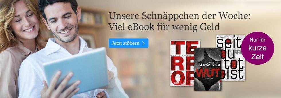 Die Schnäppchen der Woche bei eBook.de entdecken!