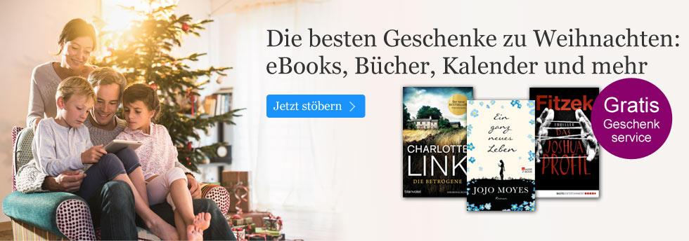 Weihnachten - die schönsten Geschenkideen bei eBook.de