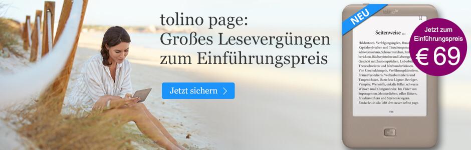 tolino page eReader zum Einführungspreis bei eBook.de