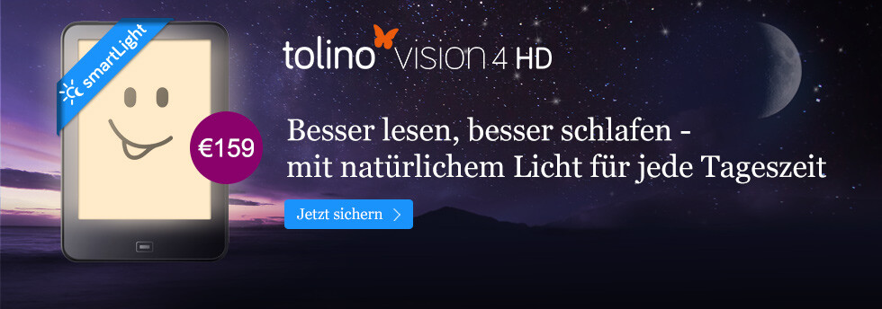 eReader tolino vision 4 HD mit smartLight bei eBook.de