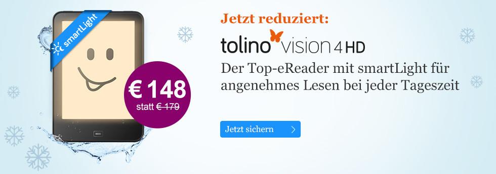 tolino vision 4 HD mit smart Light für nur € 148 statt € 179 bei eBook.de