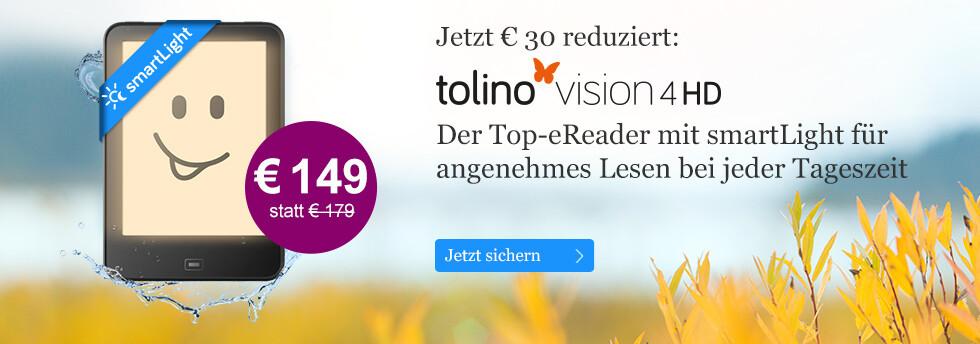 tolino vision 4 HD für nur 149 EUR bei eBook.de