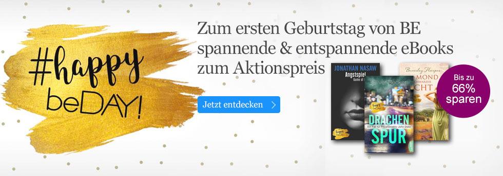 Zum ersten Geburtstag von BE spannende & entspannende eBooks  zum Aktionspreis