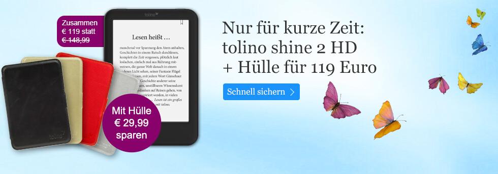 tolino shine 2 HD mit Hülle für nur 119 Euro