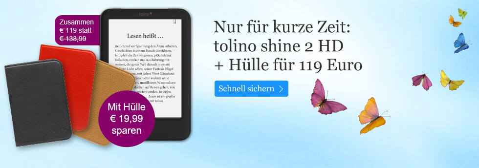 tolino shine 2HD mit Hülle zusammen für € 119