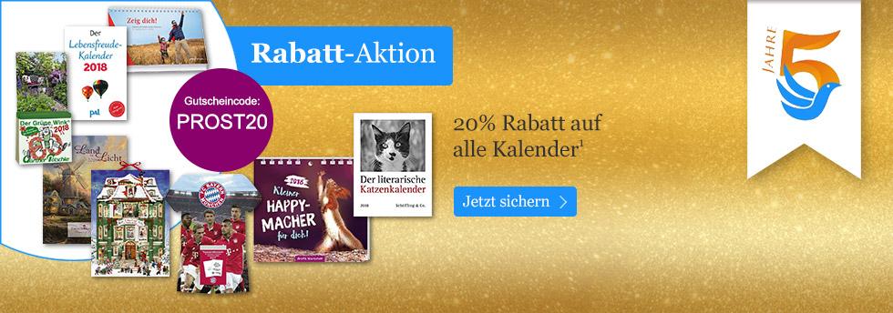 20% Rabatt auf Kalender: Feiern Sie mit uns 5 Jahre eBook.de!