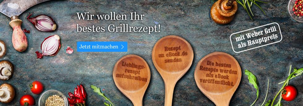 eBook.de Grillparty: Wir wollen Ihr bestes Grillrezept!