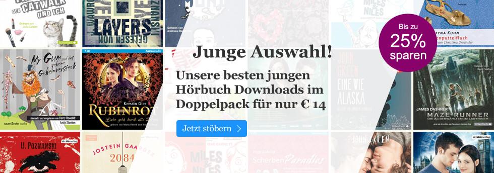 Hörbuch Downloads für Jugendliche - jetzt im Doppelpack für 14 Euro