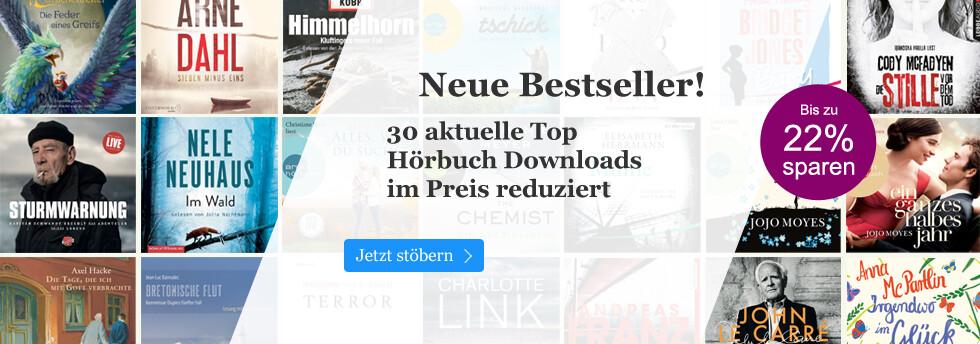 Bestseller Hörbuch Downloads reduziert bei eBook.de