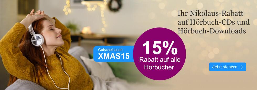 Ihr 15% Gutschein auf Hörbuch CDs und Hörbuch Downloads
