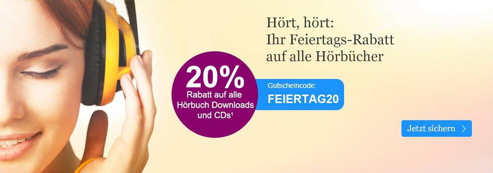 20% Rabatt auf alle Hörbuch Downloads und CDs