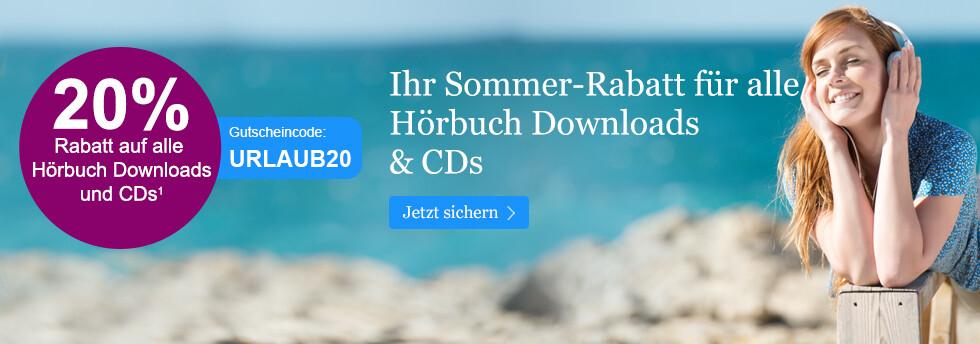 20% Rabatt auf Hörbuch Downloads und CDs