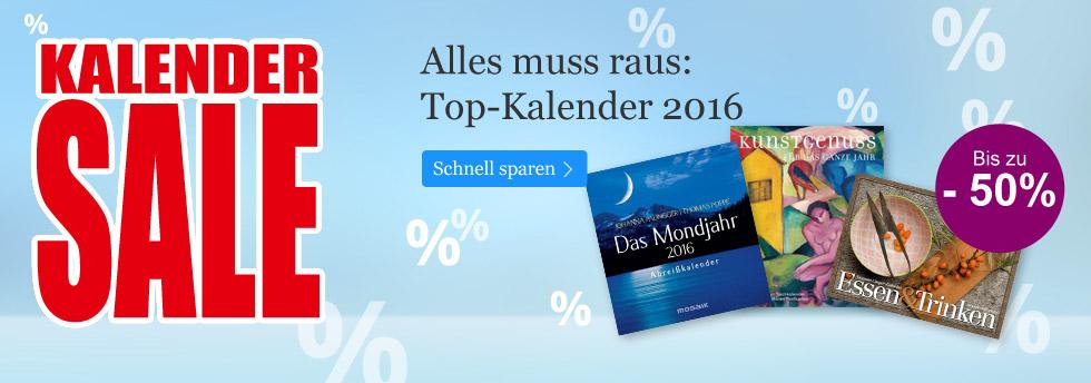 Kalender 2016 bis zu 50% reduziert