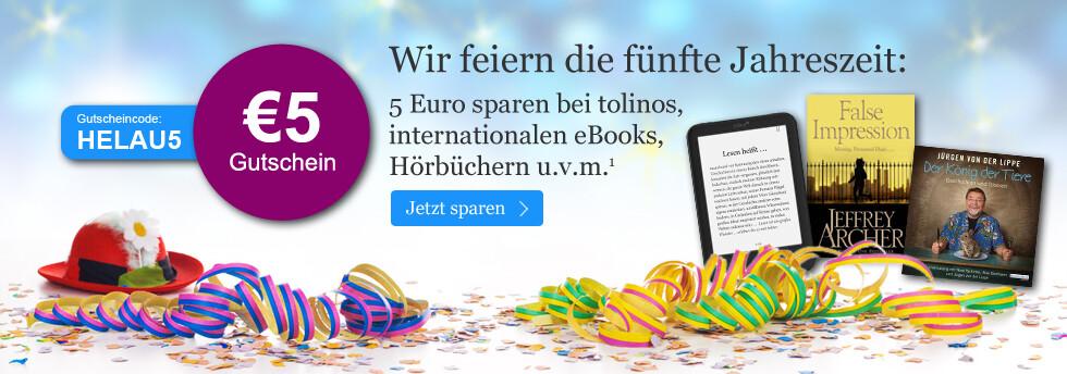 Ihr 5 EUR Gutschein zum Karneval bei eBook.de