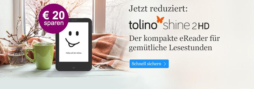 tolino shine 2 HD für nur 99 EUR bei eBook.de