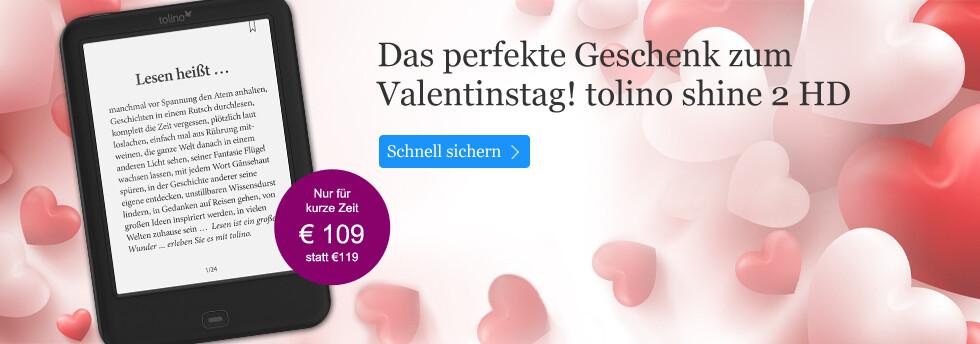tolino shine 2 HD - das perfekte Geschenk zum Valentinstag