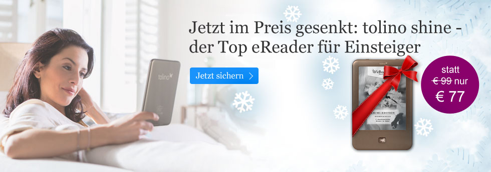 eReader tolino shine für 77 Euro