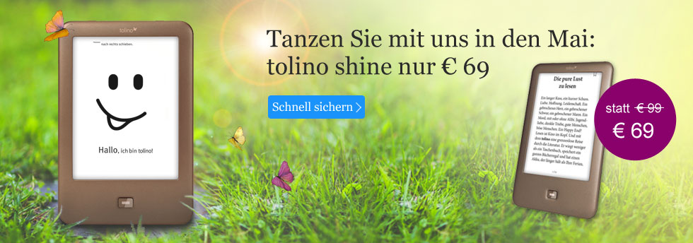 eReader tolino shine nur 69 EUR