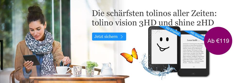 tolino shine 2 HD und vision 3 HD entdecken