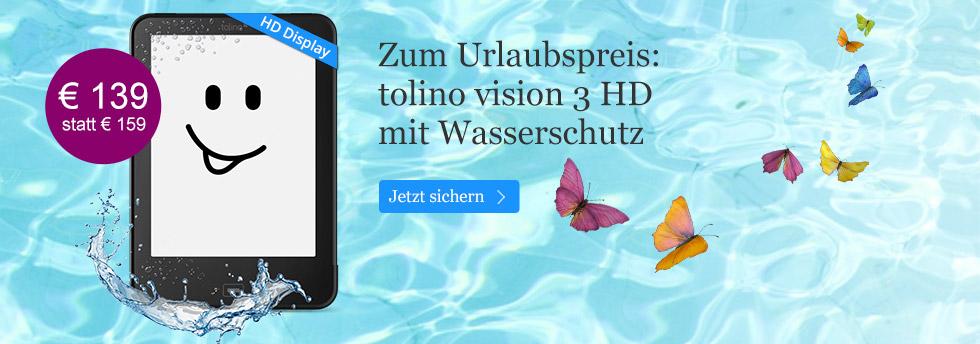 tolino vision 3 für nur 139 Euro - jetzt sichern
